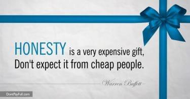 Warren Buffett Honesty Quote