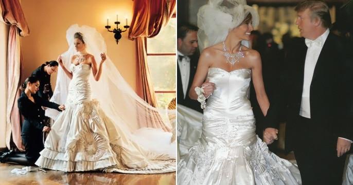 Αποτέλεσμα εικόνας για melania trump wedding dress