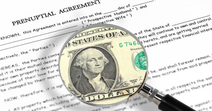 financial advantages and disadvantages of prenups
