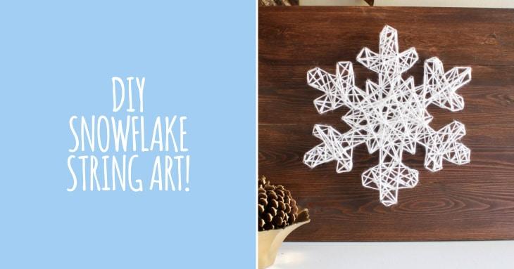 DIY - Snowflake String Art