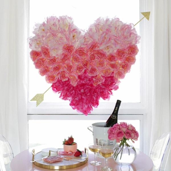Hanging Flower Heart - DIY Idea