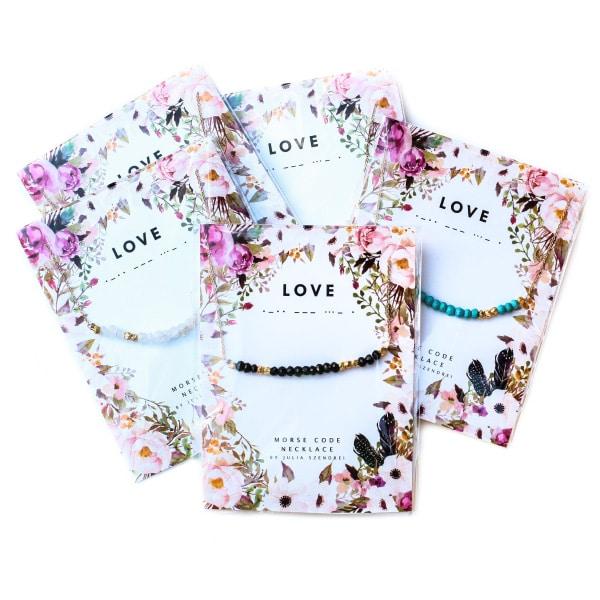 "Morse Code ""Love"" Necklace"