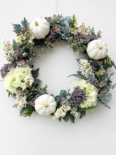 DIY Faux Hydrangea Wreath
