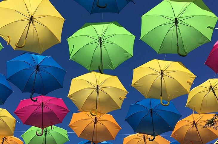 Umbrella Sky Art Miami