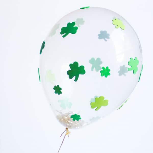 DIY Shamrock Balloons